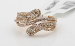18K ROSE GOLD DIAMOND DRESS RING