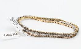 18K TRICOLOUR GOLD BLACKWHITEBRN DIAMOND BRACELET