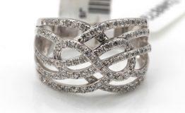 14K WHITE GOLD DIAMOND DRESS RING