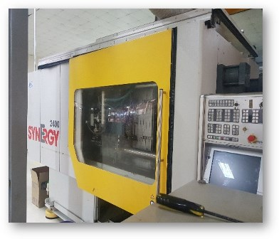 Complete 2012 Netstal Synergy 2400-1700 Injection Moulding Line